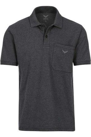 Trigema Comfort Fit Polo shirt Korte mouw antraciet, Melange
