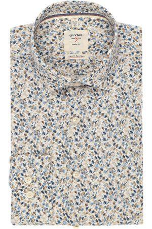 Olymp Heren Zakelijk - Level Five smart business Body Fit Overhemd veelkleurig, Bloemen