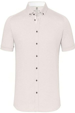 DESOTO Slim Fit Overhemd Korte mouw , Effen