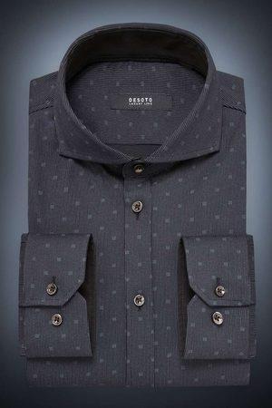 DESOTO Heren Tops - Luxury Line Slim Fit Jersey shirt / , Motief