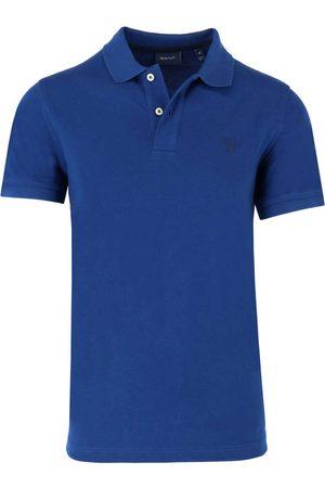 GANT Heren Korte mouw - Regular Fit Polo shirt Korte mouw lichtblauw, Effen