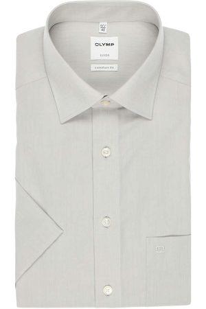 Olymp Heren Korte mouwen - Luxor Comfort Fit Overhemd Korte mouw lichtgrijs, Effen