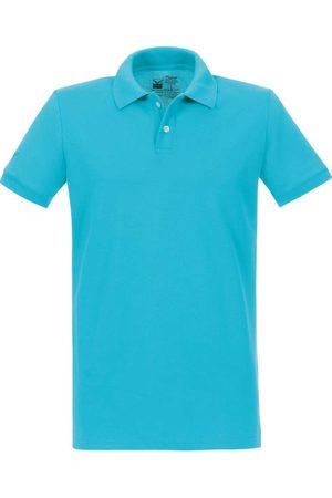 Trigema Heren Korte mouw - Slim Fit Polo shirt Korte mouw azuurblauw, Effen
