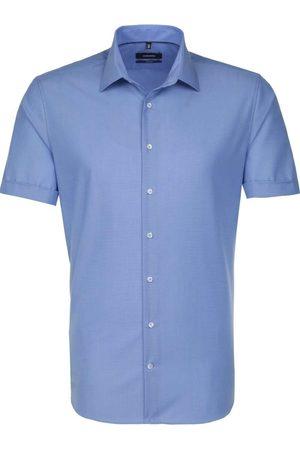 Seidensticker Heren Korte mouwen - Tailored Overhemd Korte mouw rook , Effen