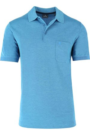 Ragman Heren Korte mouw - Regular Fit Polo shirt Korte mouw lichtblauw, Effen