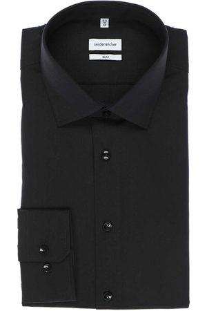 Seidensticker Heren Overhemden - Slim Fit Overhemd , Effen