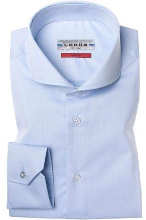 Ledub Heren Lange mouwen - Slim Fit Overhemd , Effen