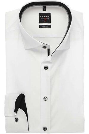 Olymp Heren Lange mouwen - Level Five Body Fit Overhemd , Effen