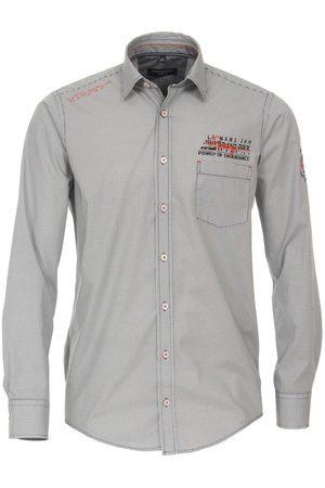 Casa Moda Heren Casual - Casual Casual Fit Overhemd antraciet, Motief