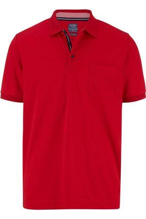 Olymp Heren Korte mouw - Casual Modern Fit Polo shirt Korte mouw baksteenrood, Effen