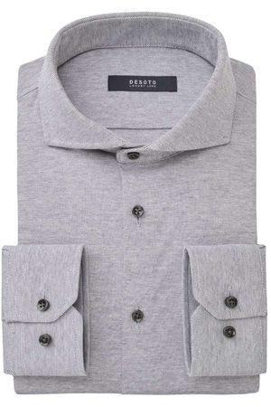 DESOTO Heren Tops - Luxury Line Slim Fit Jersey shirt lichtgrijs, Melange