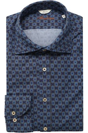 Stenströms Slimline Overhemd marine/ , Motief