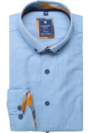 Redmond Casual Regular Fit Overhemd lichtblauw, Effen