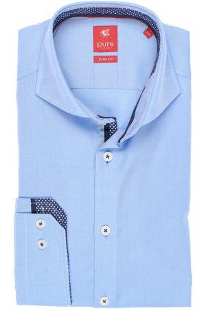 Pure Slim Fit Overhemd lichtblauw, Effen