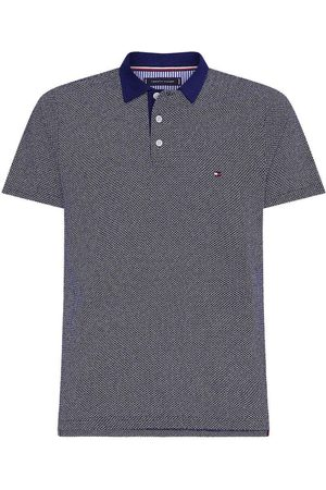 Tommy Hilfiger Slim Fit Polo shirt Korte mouw marine/donkerblauw/ , Motief
