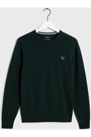 GANT Regular Fit Sweatshirt ronde halsgroen, Effen