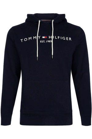Tommy Hilfiger Regular Fit Hooded Sweatshirt nachtblauw, Effen