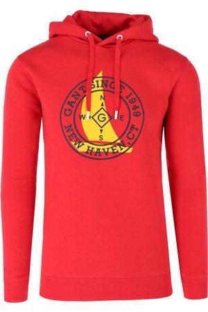 GANT Regular Fit Hooded Sweatshirt donkerrood, Effen