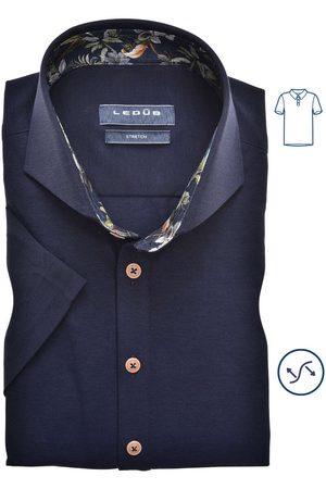 Ledub Slim Fit Polo shirt Korte mouw marine, Effen