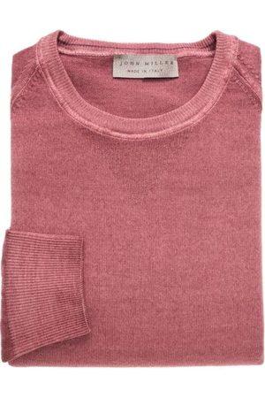 john miller Tailored Fit Sweatshirt ronde halsrood, Effen