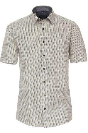 Casa Moda Casual Comfort Fit Overhemd Korte mouw /antraciet, Motief