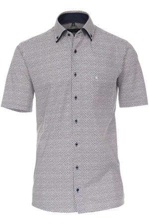Casa Moda Modern Fit Overhemd Korte mouw marine/ / , Motief