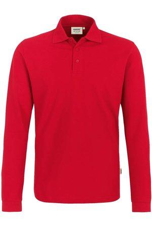 HAKRO 820 Regular Fit Poloshirt lange mouw , Effen