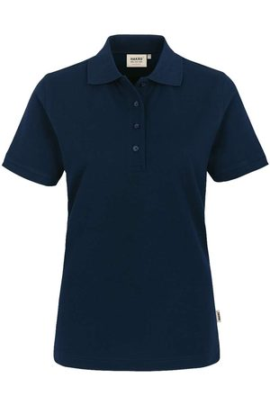 HAKRO 218 Regular Fit Dames Poloshirt nachtblauw, Effen