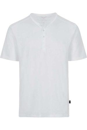 Trigema Comfort Fit T-Shirt Henley kraag , Effen