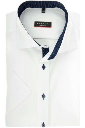ETERNA Modern Fit Overhemd Korte mouw , Effen