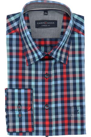 Casa Moda Casual Fit Overhemd turkoois/ , Ruit