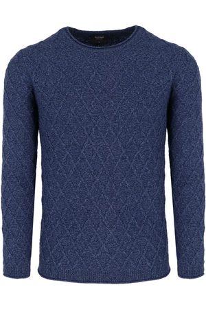 Olymp Soft Business Modern Fit Trui ronde hals nachtblauw, Gestructureerd