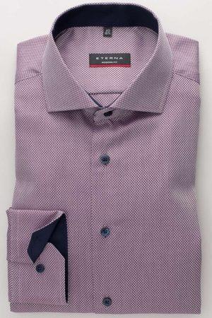 ETERNA Modern Fit Overhemd , Gestructureerd