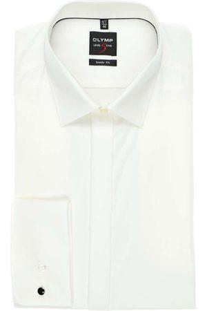 Olymp Heren Lange mouwen - Level Five Body Fit Overhemd lichtbeige