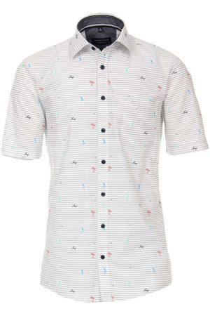 Casa Moda Comfort Fit Overhemd Korte mouw , Motief