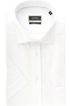 Hatico Regular Fit Overhemd Korte mouw , Effen