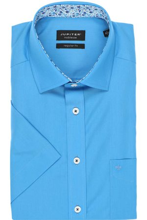 Jupiter Regular Fit Overhemd Korte mouw aqua, Effen