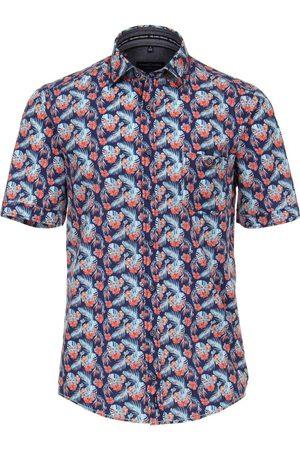 Casa Moda Casual Fit Overhemd Korte mouw donkerblauw, Motief