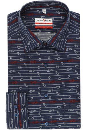 Marvelis Modern Fit Overhemd marine/ , Motief