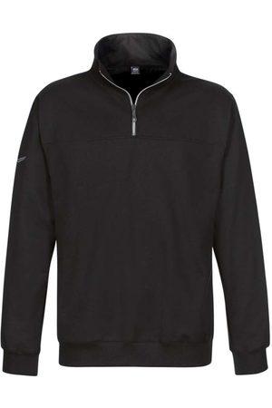 Trigema Comfort Fit Sweatshirt ritssluitingzwart, Effen