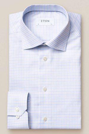Eton Slim Fit Overhemd lichtgrijs/ , Ruit