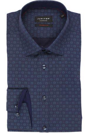 Jupiter Modern Fit Overhemd donkerblauw/ , Motief