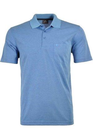 Ragman Regular Fit Polo shirt Korte mouw marine, Gestreept