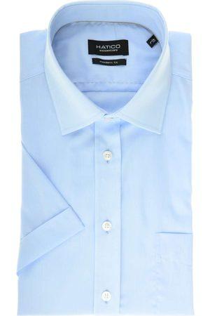 Hatico Modern Fit Overhemd Korte mouw lichtblauw, Effen