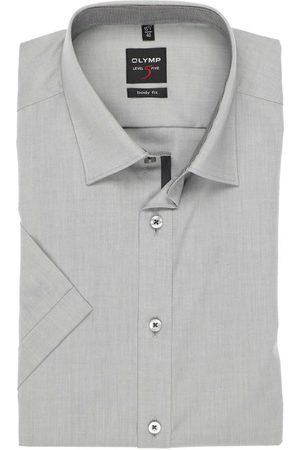 Olymp Level Five Body Fit Overhemd Korte mouw , Effen
