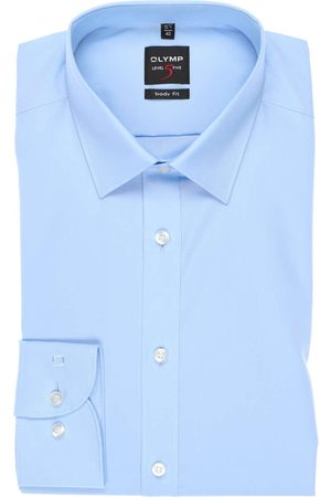 Olymp Level Five Body Fit Overhemd lichtblauw, Effen