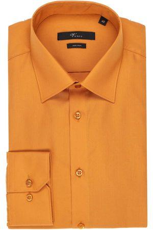 Venti Modern Fit Overhemd oker, Effen