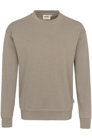 HAKRO 475 Comfort Fit Sweatshirt ronde hals kaki, Effen