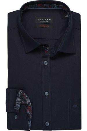 Jupiter Modern Fit Overhemd marine, Effen