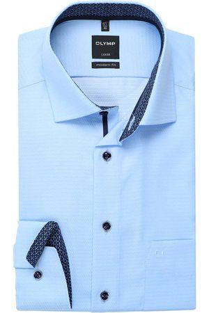 Olymp Luxor Modern Fit Overhemd lichtblauw, Gestructureerd